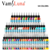 54 Colors Tattoo Pigment Ink Set Each Bottle 30ml 1Oz For Tattoo Body Art With Original Basic Premium Supply