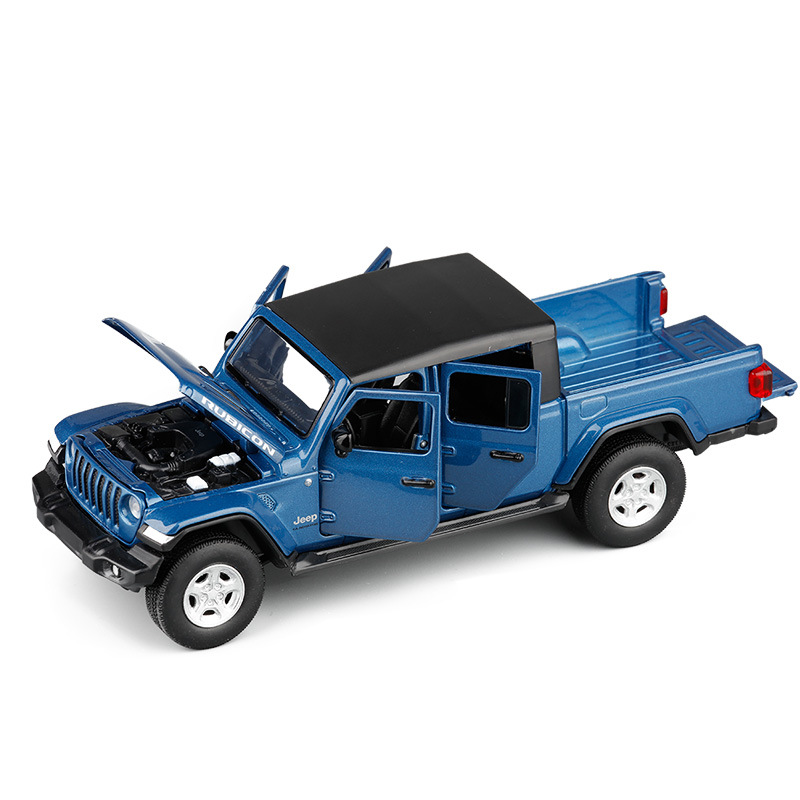 1/32 2020 Gladiator RUBICON Simulation Toy Vehicles Model Alloy  Children Toys Genuine License Collection Gift Kids 6 Open Door