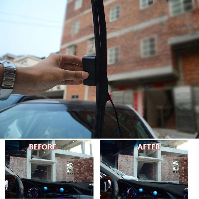 Универсальный Авто Автомобиль Черный стеклоочиститель лобового стекла для восстановления и ремонта инструмент реставратор лобовое стекло Ремонтный комплект для очистки