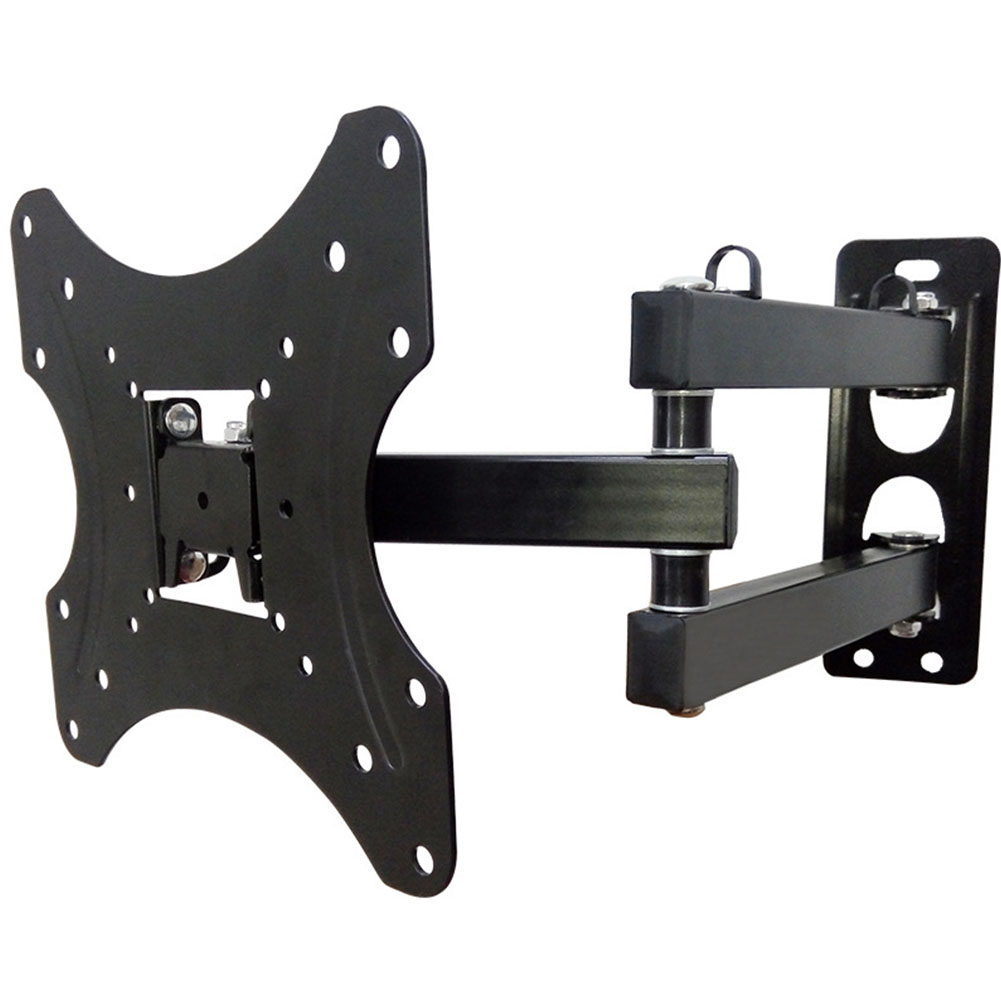 14-42inch Easy Install Screen Rotate Stand Adjustable Angle TV Bracket Universal Durable Iron Hanging Wall Mount Strong Bearing