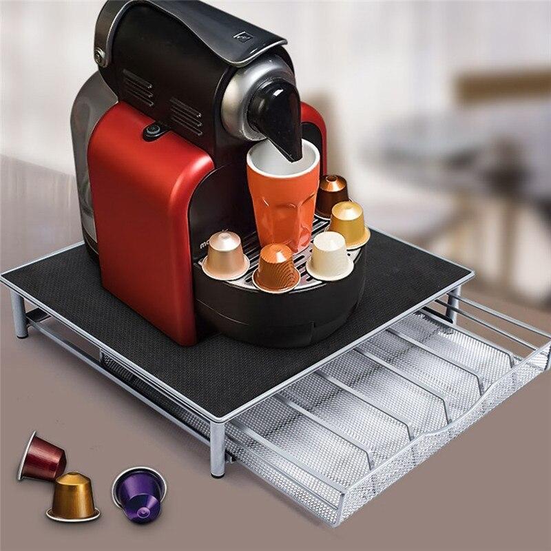 54pcs 36pcs Nespresso Capsules Metal Capsule Coffee Pod Holder Rack Capsule Storage Drawers Organizer Coffeeware Sets