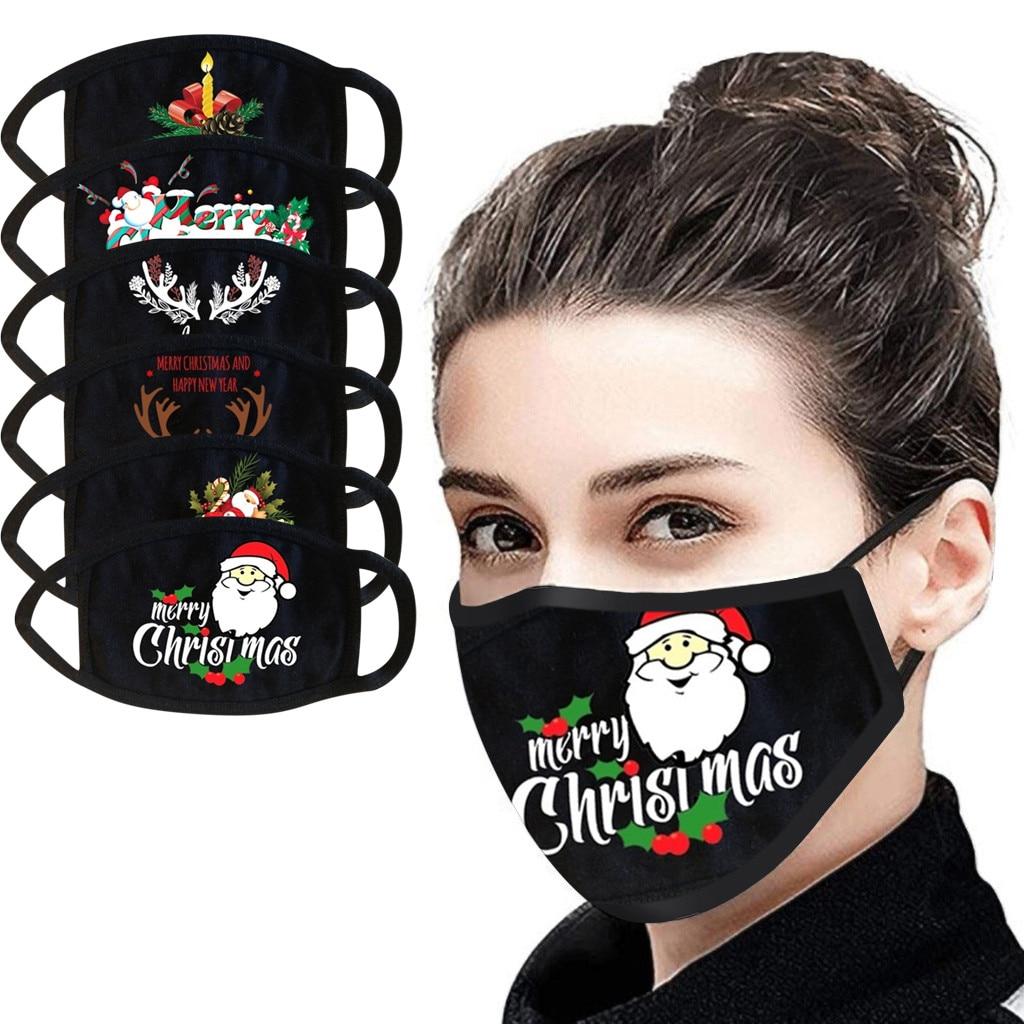 Halloween Cosplay Black Adult Face Mask Reusable Cloth Mask For Face Fashionable Mask For Face Women Men Mascarilla Tela Drop(China)