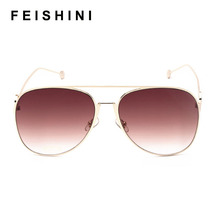 MIZHO 2020 F Letter Design Rimless Sunglasses Women Mirror B