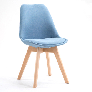 Nordic Modern Minimalist Solid Wood Desk Chair Leisure  Fabric Dining  To Discuss s