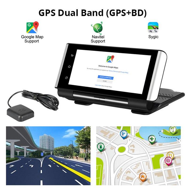 Auto DVR Android 4G Rückansicht Kamera 7 zoll Voll IPS Touch Screen Dash Cam GPS Navi ADAS Dual Objektiv auto Kamera Navigation