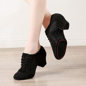 Image 4 - Sapatos para dança latina femininos, sapatos modernos para dança internacional para mulheres calçado de couro waltz503 tango foxtrot