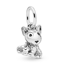 925 Sterling Silver Beads Bull Terrier Puppy Dangle for Jewelry Making fit Original Pandora Bracelets Women DIY