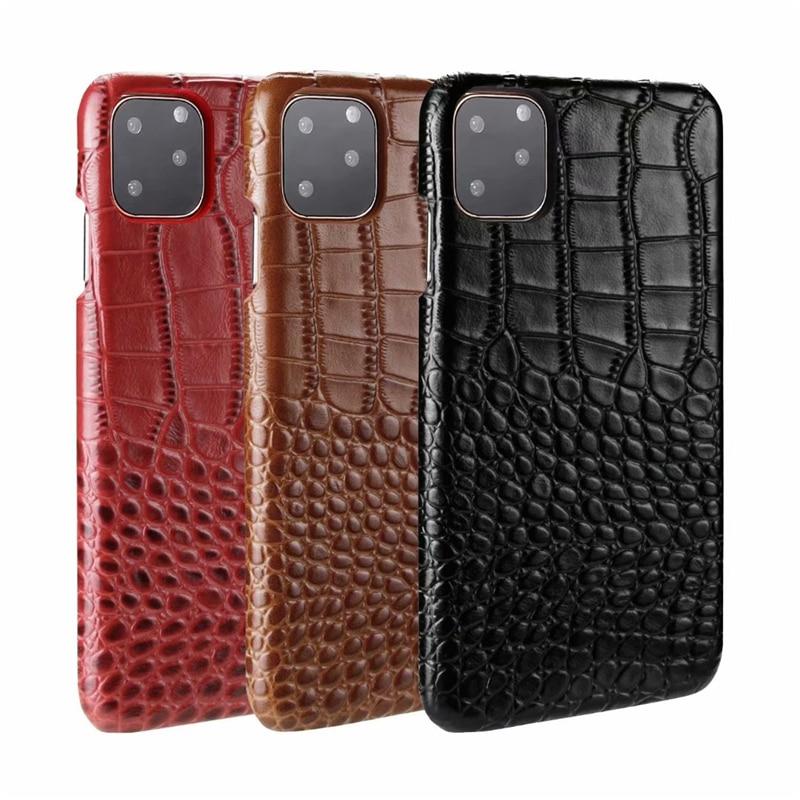 Genuine Leather Crocodile Grain Case for iPhone 11/11 Pro/11 Pro Max 5