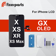 1 pcs LCD Top Quality For iphone x lcd XS XR XSMax OLED Complete With 3D Touch Digitizer Assembly Replacement for iphone xs lcd(China)