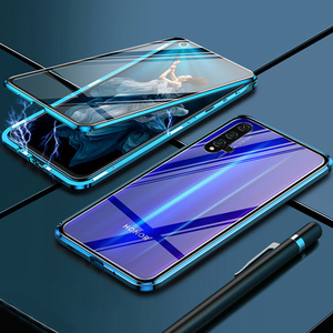 Metalowy futerał na zderzak do Huawei Nova 7 SE Pro Case magnetyczny 360 szkło hartowane odporny na wstrząsy pokrowiec na Huawei P40 Lite P40 Pro Case