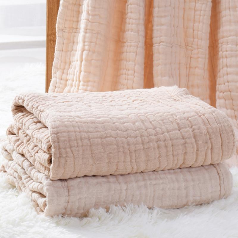 Baby Blankets Newborn Blanket Swaddle Blanket Baby Blanket Bamboo Muslin Swaddle Cotton Fabric 6 Layer Dropshipping