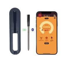Najnowszy bezprzewodowy inteligentny mięso na grilla żywności termometr do gotowania piekarnik kuchenny termometr z Bluetooth sonda zegar Alarm grill Toos tanie tanio CN (pochodzenie) H01180A2 Piekarnik termometry Metal Cyfrowy APP Controlled IP67 -0 C~ 300C -40 C~ 100C BBQ thermometer