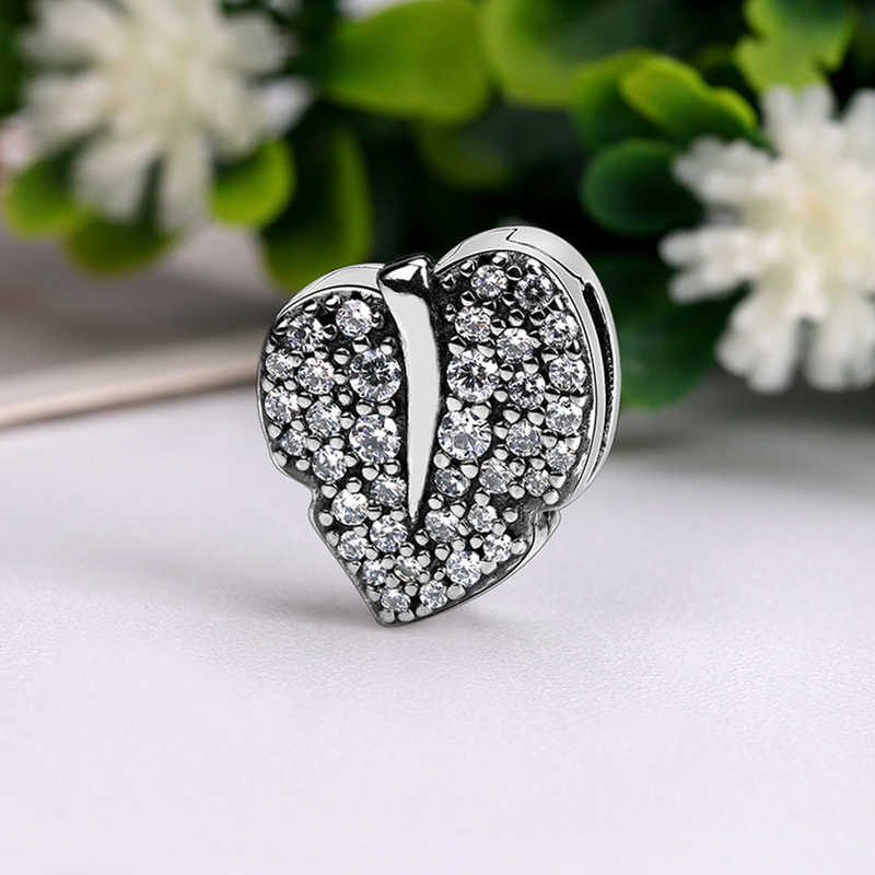 2019 neue Original 925 Sterling Silber Reflexionen Dazzling Clip Stopper Charms Perlen Fit Pandora Armband DIY Frauen Schmuck
