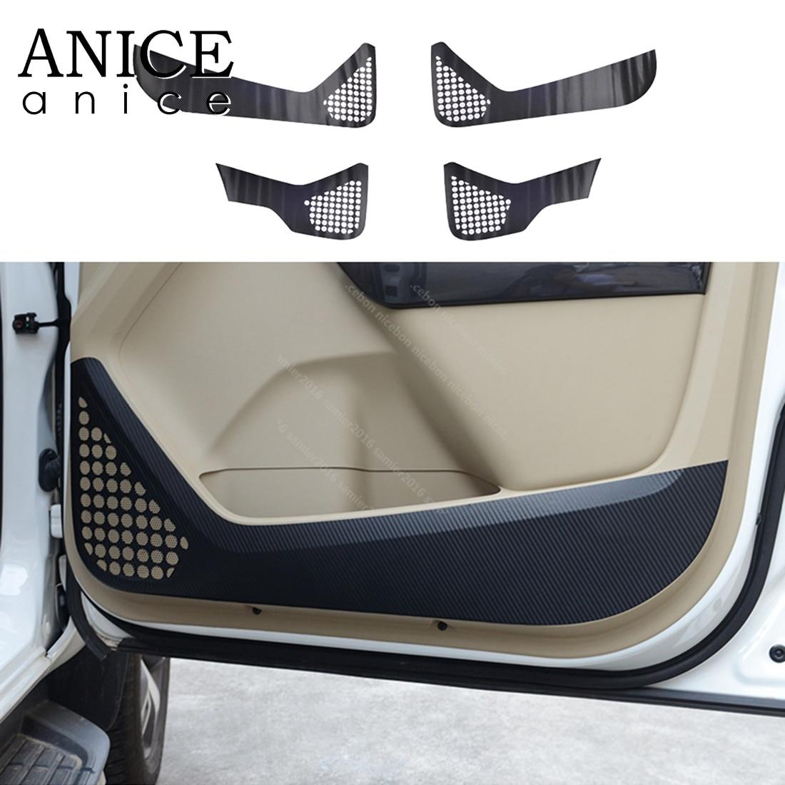 4pcs Carbon Fiber Color Car Door Anti-kick Film Cover For Ford Everest Endeavour Accessories 2015 2016 2017 2018 2019