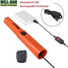 4 pçs/lote TMR recarregável detector de metais Caçador de Ouro detector de metais pinpointer detector de ouro subterrânea subaquática à prova d água