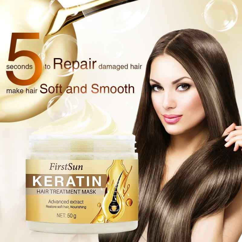 Keratin Hair Care Mask 5 วินาทีที่เสียหายHair Smooth Hair 50G Hair Treatment Mask Hair & ScalpการรักษาTSLM1