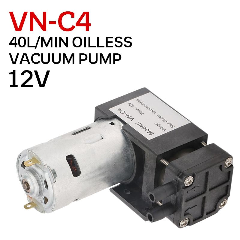 pcmos 2019 Hot DC12V 42W Mini Small Oilless Vacuum Pump  85KPa Flow 40L/min for Gas Air Inflatable Pump Vacuum Pumps Auto Parts|Vacuum Pumps| |  - title=