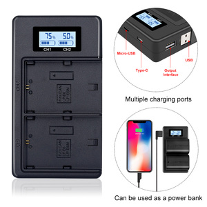 Image 1 - Palo LCD Dual USB Charger LP E6 LP E6 LPE6 Camera Battery Charger for Canon 5D Mark II III 7D 60D EOS 6D 70D 80D camera