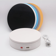 Foleto 20cm 360 학위 220V 전기 자동 회전 사진 회전 턴테이블 디스플레이 스탠드 제품 디스플레이 턴테이블