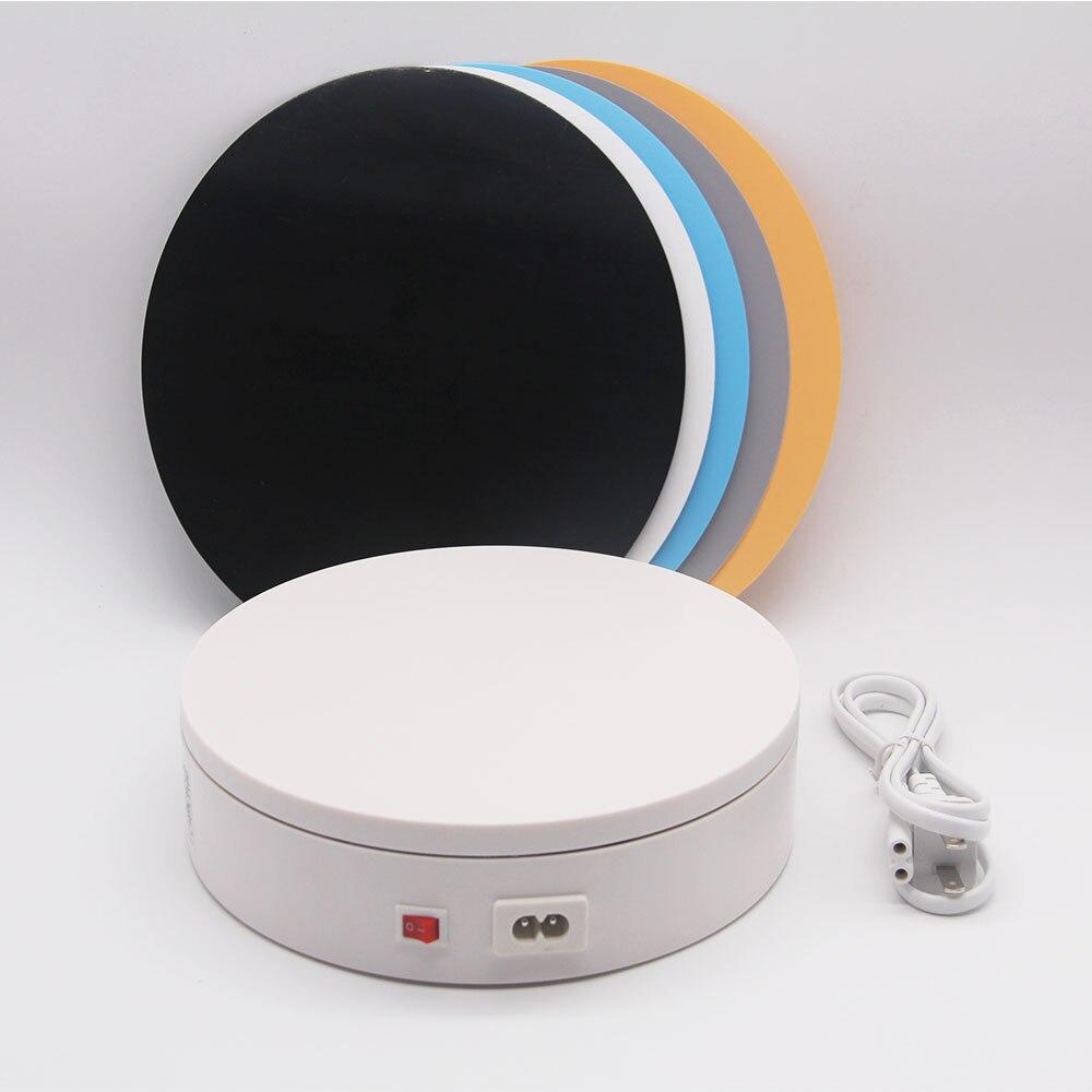Foleto 20cm 360 graus 220 v elétrica auto-rotação fotografia rotativo plataforma giratória expositor para exibição de produto 3d varredura pan