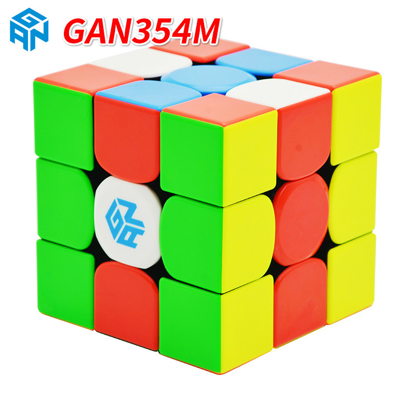 Gan356 R S 3x3x3/GAN 354M Magnetic Cube Stickerless Magic Professional 356 Speed Magico Cubo GAN356AIR Puzzles For Children