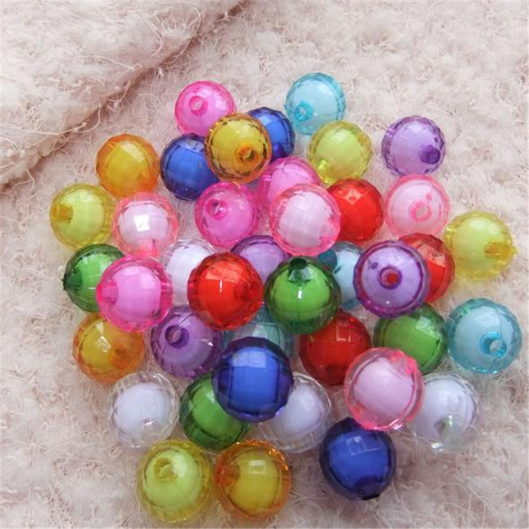 DIY Beaded Bracelet Material Acrylic Colorful Acrylic Beads Modeling Acrylic Beads Children Bead Toy Material