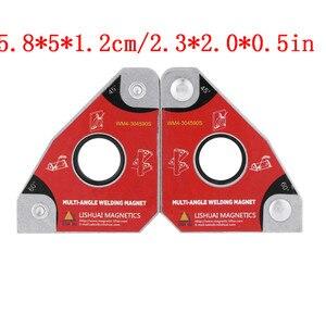 Image 2 - 2 adet çok açısı 30/60/45/90 kaynak mıknatıslar tutucu lehimleme aracı elektrik kaynak demir emme tutma manuel aracı