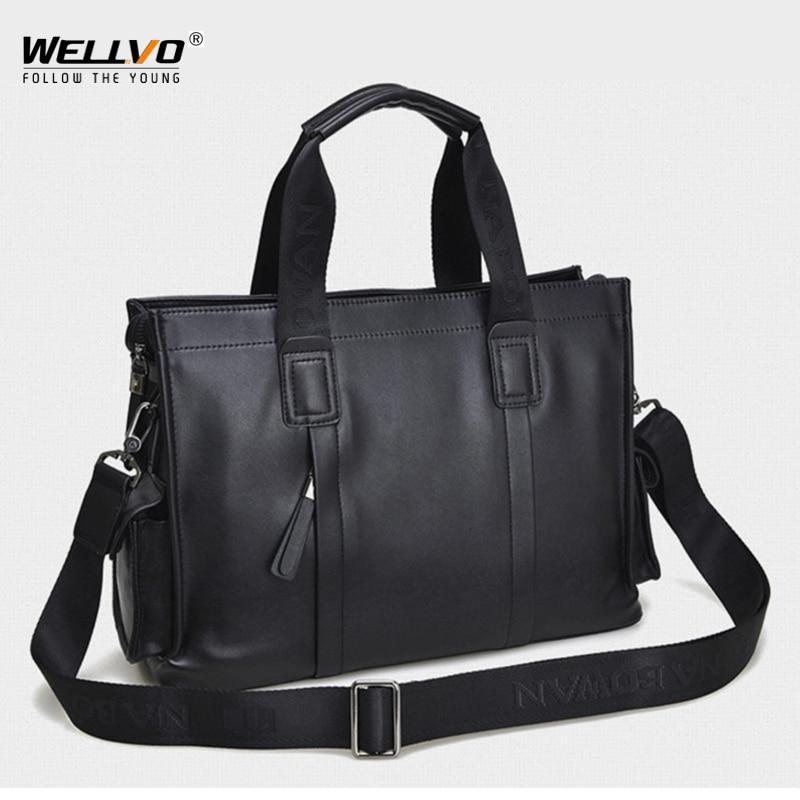2020 New Male Briefcase Shoulder Bags For Business Vintage Men's Messenger Bag Leather Handbag Large Tote Travel Bags XA651ZC