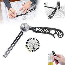 Versátil magcon ferramenta multi-função desenho régua criativa desenho curvo ferramenta régua magnética