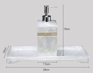 Image 5 - שרף אביזרי אמבטיה, יד sanitizer בקבוק ג ל dipenser האמבטיה ערכת כותנה ספוגית תיבת מגש לשטוף סט אמבטיה קישוט