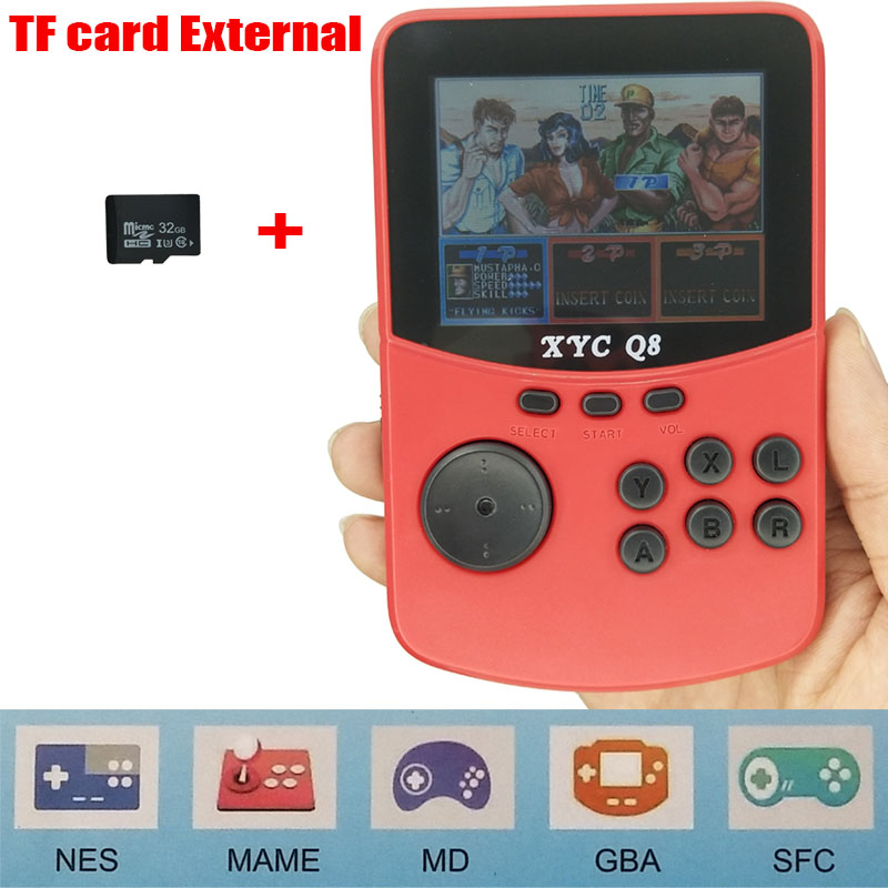 For NES\MAME\MD\GBA\SFC Open Source Arcade Handheld Retro Game Console Progress Save/Load 512M\32G TF card External Game Player