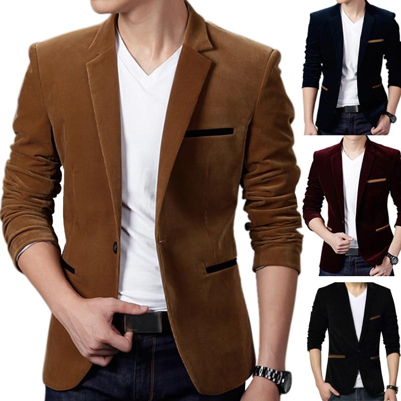 Blazer Sacks Jackets For Men Blazers Suit Men Fashion Clothing Jackets Slim Coats HSJ88