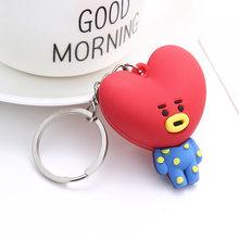 Coreia kpop chaveiros do carro chaveiro saco pingente trinket keyfob chave titular charme bonito kawaii animais coelho coala coração cão ovelha