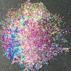 12 unids/set burbujas de Color DIY cristal epoxi relleno UV resina imitación Blister
