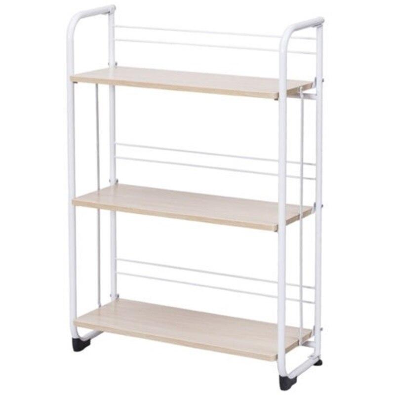 3 х уровневый складные полки для хранения утилита постоянная стойка для Кухня гараж для офисного помещения, используя пол Тип дома держател... - 5