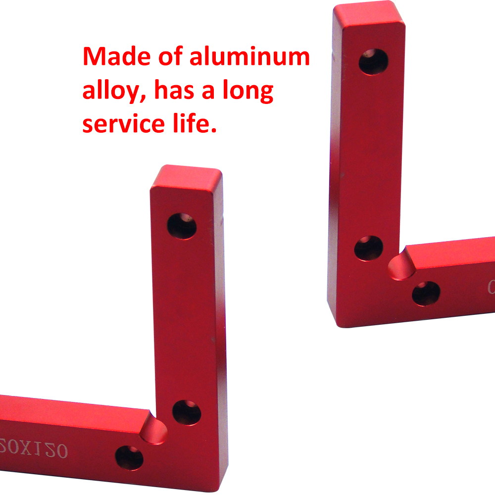2pcs 90 Right Angle Positioning Block Jig Aluminum Alloy for Wood Working Easy to use and install