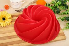 Big Swirl Shape Silicone Butter Cake Mould Baking Form Tool For Cake Mold Bakery Baking Dish Silicone Bakeware Food Grade Stuff(China)