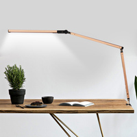 Swing Arm LED Desk Lamp with Clamp Dimmable Table Light for Study Reading Work Office MDJ998