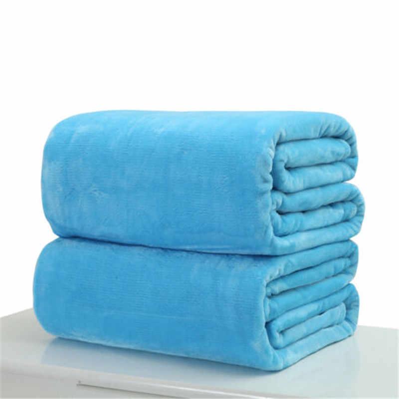 Cobertor de lã de pelúcia pequeno super quente sólido micro-lance tapete sofá cama escritório casa gato cão crianças cobertor