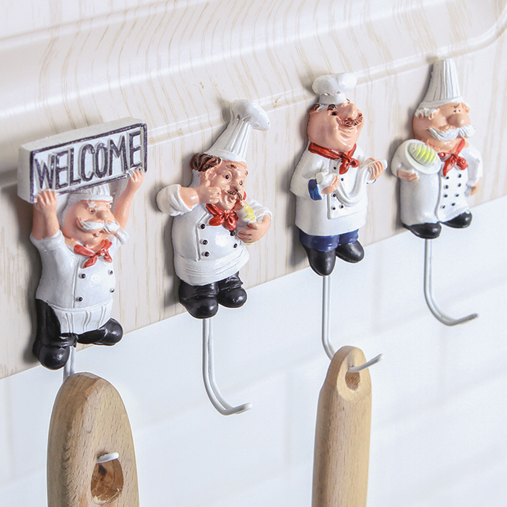 1pcs Cartoon Shaped Hook Powerful Adhesive Wall Key Holder Wall Door Clothes Coat Hat Hanger Kitchen For Bathroom Towel Hook