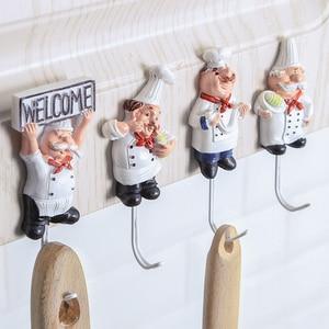 1pcs Cartoon Shaped Hook Powerful Adhesive wall key holder Wall Door Clothes Coat Hat Hanger Kitchen For bathroom Towel Hook(China)