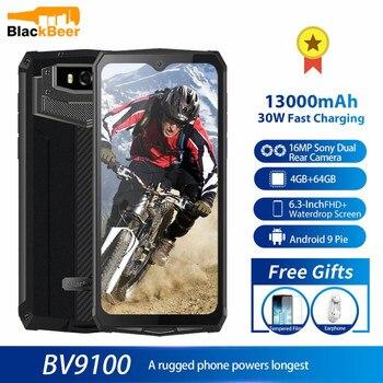 Перейти на Алиэкспресс и купить Смартфон Blackview BV9100, прочный, IP68, водонепроницаемый, MTK6765, 4G, мобильный телефон, 12000 мАч, 30 Вт, быстрая зарядка, 4 Гб 64 ГБ, 16 МП