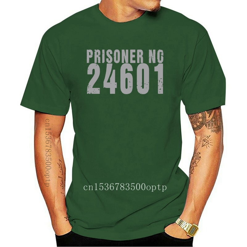 Prisoner No Les Miserables 24601 Summer Basic Casual Short Cotton T-Shirt(Regular and Big and Tall Sizes Included)