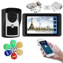 YobangSecurity RFID разблокировка 7 дюймов Wi-Fi беспроводной видео мониторинг телефон двери дверной звонок камера Система внутренней связи пакет приложение управление