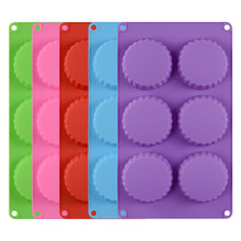 6 Cavity Silicone Mini Pie Pan/Mold Mini Tart Pan Tartlet Pans Fluted Quiche Pans Chocolate/Cookie/Candy Mold Soap