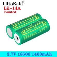 LiitoKala Lii 14A 18500 1400mAh 3.7V 18500 Battery Rechargeable Battery Recarregavel Lithium Li ion Batteies For LED Flashlight