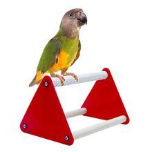 Bird Perch Bracket Bite Grinder Claw Fun Toys Parrot  Acrylic Stand