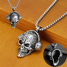 Headset Skeleton Pendant Necklace For Men Women Hip Hop Fashion Personality Trend Earphone Skull Titanium Steel Hanging
