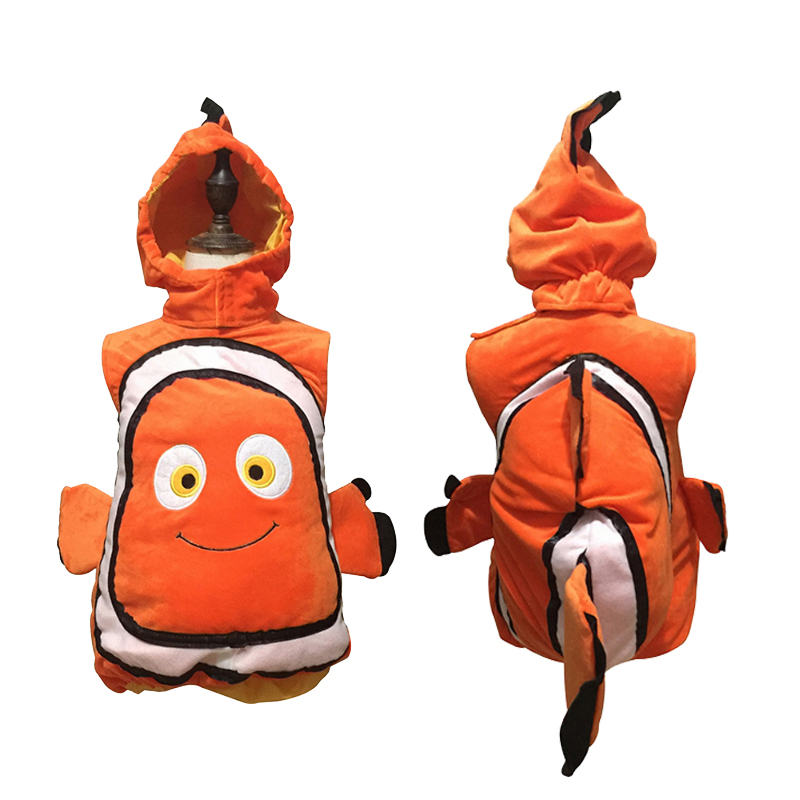 Free Shipping Holiday Halloween Clownfish Costume Cosplay Pixar Animated Film Finding Nemo Little Baby Fishy Carnival With Hat