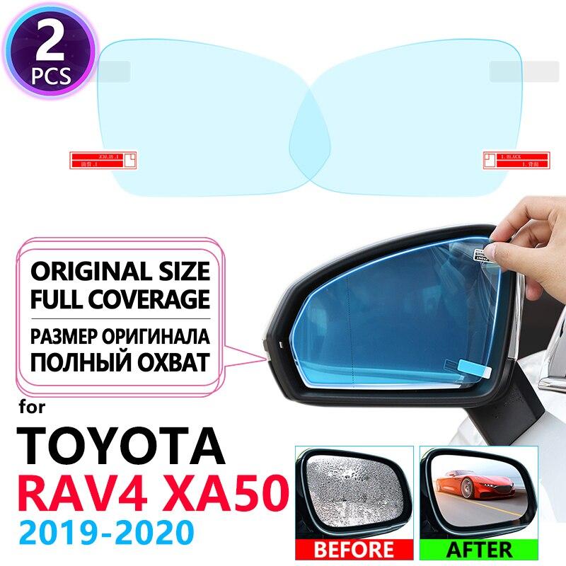 Полноэкранная противотуманная непромокаемая пленка для зеркал заднего вида, пленки для Toyota Rav4 XA50 2019 ~ 2020 RAV 4 50, автомобильные наклейки, автом...
